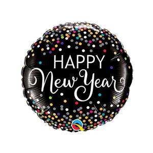 Balão Happy New Year Confetti Foil