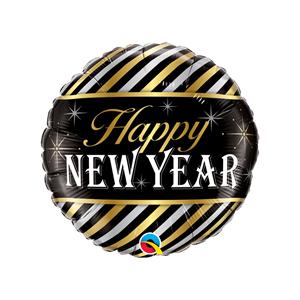 Balão Happy New Year Riscas Foil