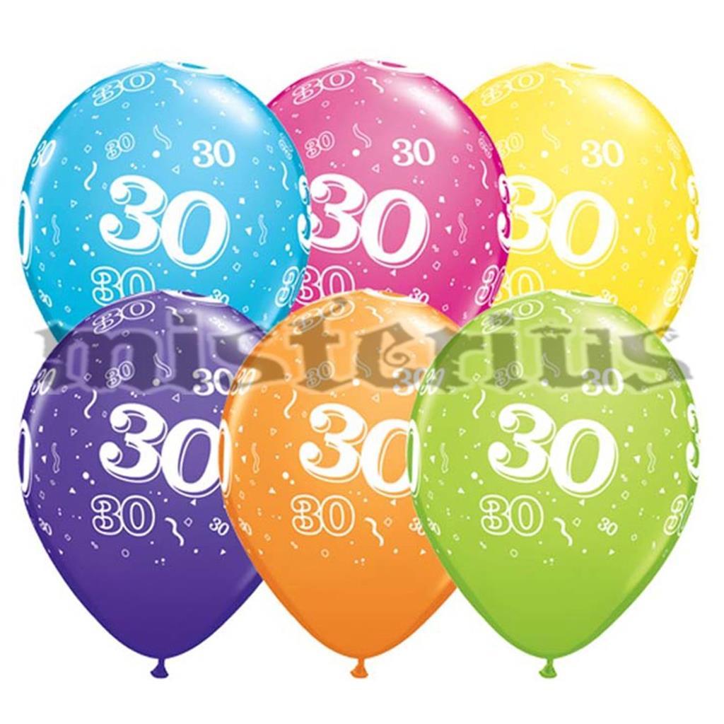 Balao Latex 30 Anos 6 un Multicor
