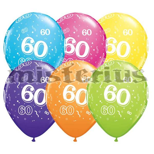 Balao Latex 60 Anos 6 un Multicor