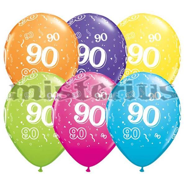 Balao Latex 90 Anos 6 un Multicor