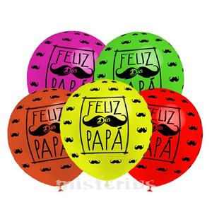 Balão Látex Feliz Dia Papá, UN