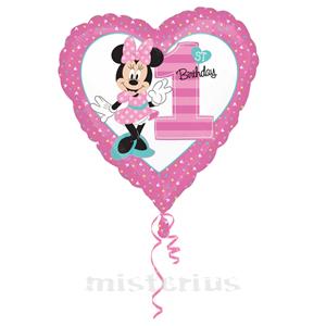 Balão Minnie Bébe 1º Aniversário 43cm