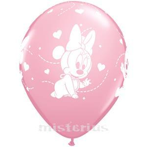 Balão Minnie Bebé,  6 Unid.