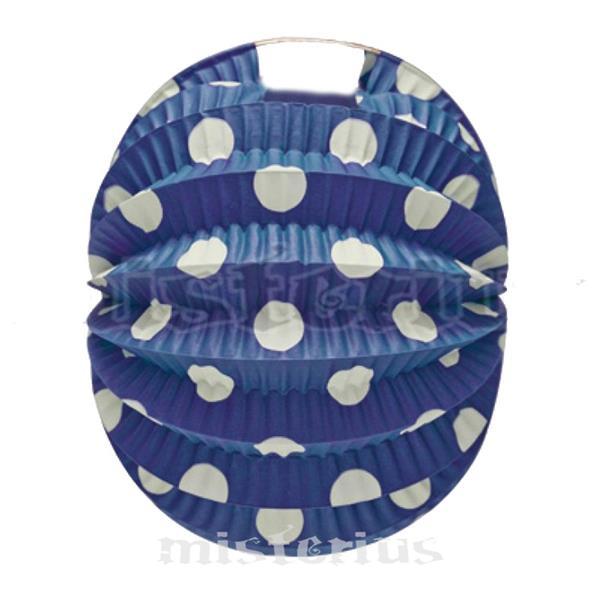 Balão Papel Azul Bolas Brancas