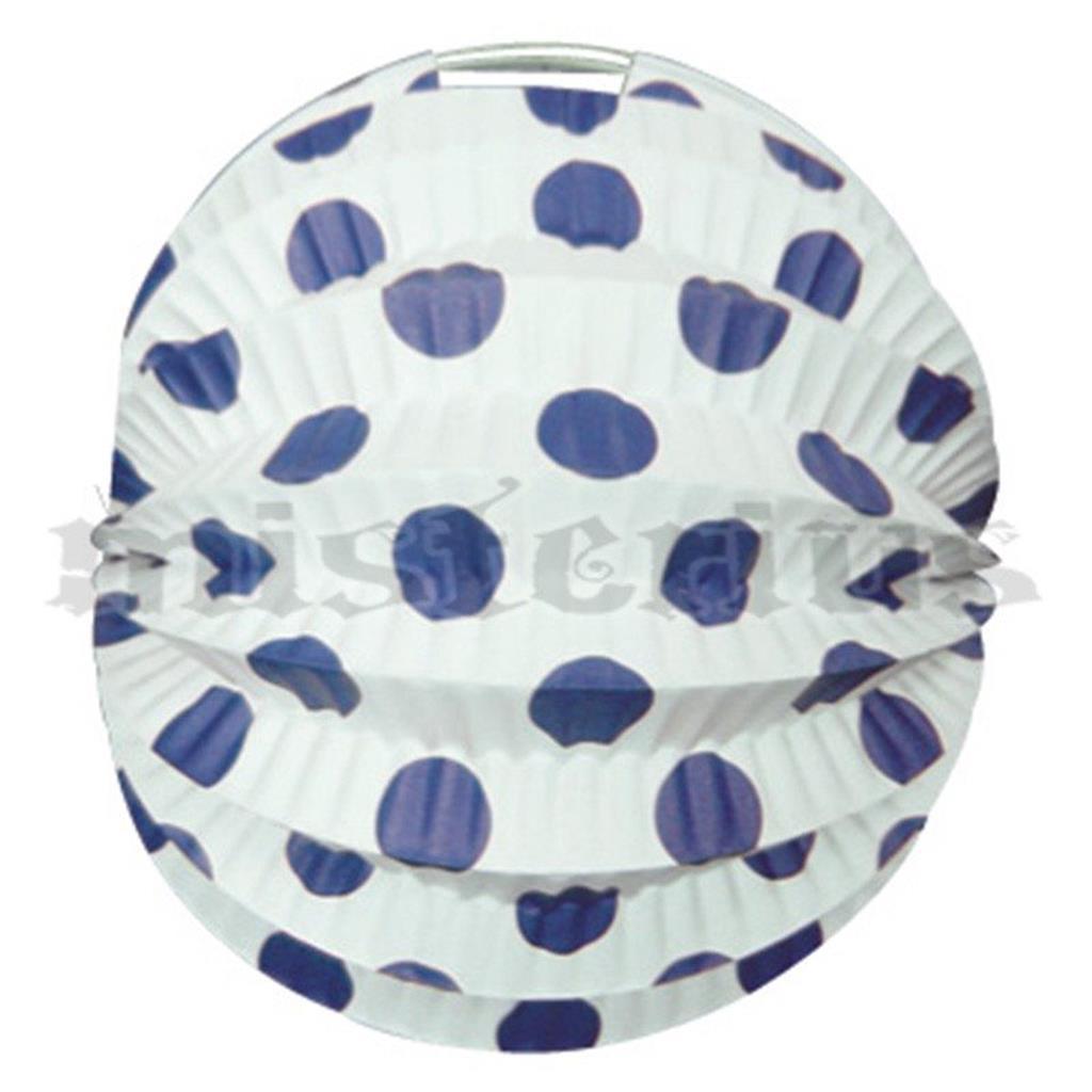 Balão Papel Branco Bolas Azuis