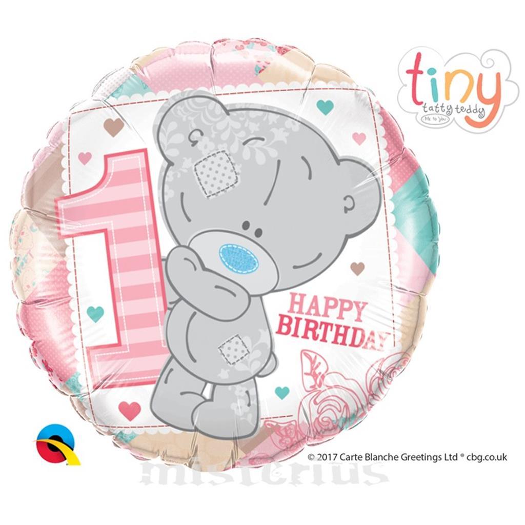 Balão Ursinho Menina 1 Aniversário