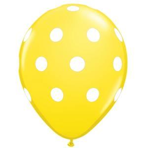 Balões Amarelos Bolinhas, 6 unid.