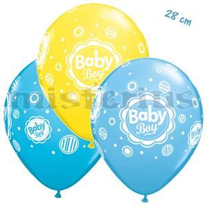 Balões Baby Boy Dots Latex 6 Unid.