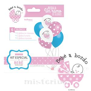 Balões Bebé a Bordo, Menina, 6un