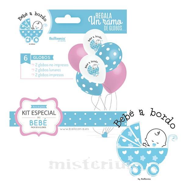 Balões Bebé a Bordo, Menino, 6un