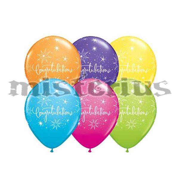 Balões Congratulations Latex 6 unid