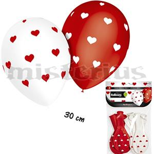 Balões Corações, 8 un