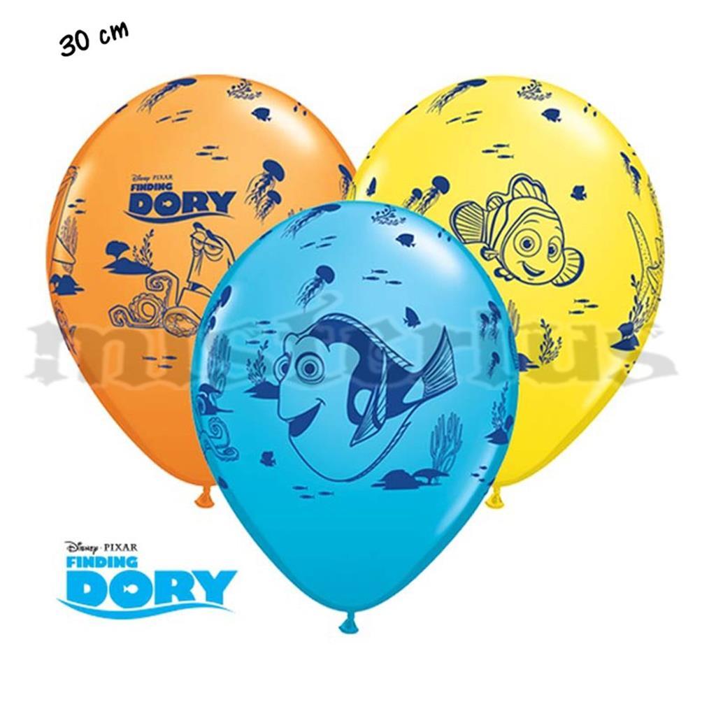 Balões Latex Dory Nemo, 6 Unid.