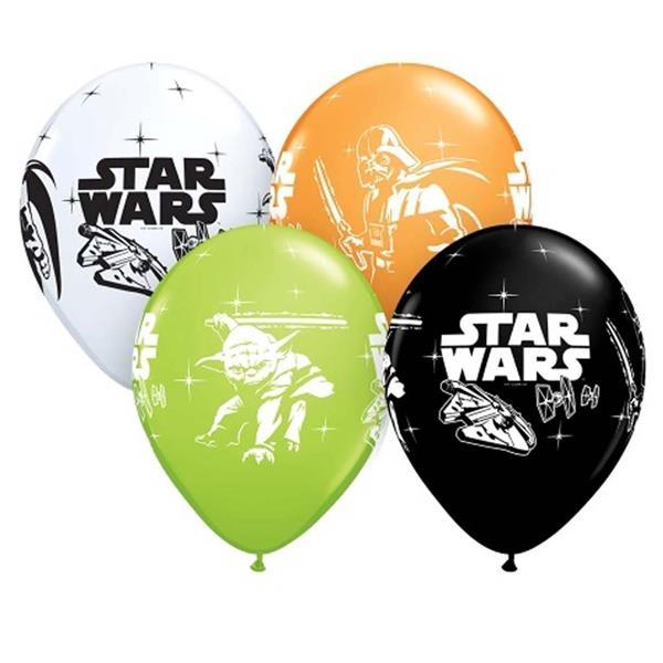 Balões Latex Star Wars, 6 Unid.