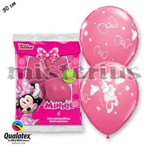 Balões Minnie Latex, 6 unid.