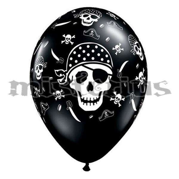 Balões Pirata em Latex 6 und