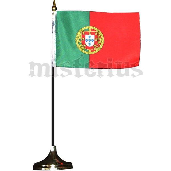 Bandeira de Portugal com Suporte de Mesa