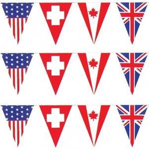 Bandeiras Internacionais Plásticas Triangulares