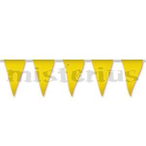 Bandeiras Triangulares Amarelo, 5 mt