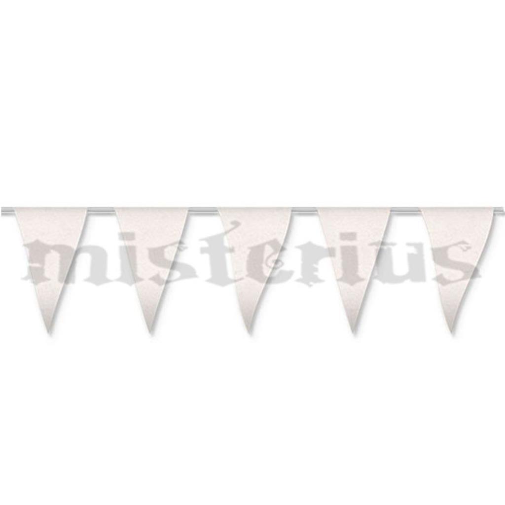 Bandeiras Triangulares Brancas, 5 mt