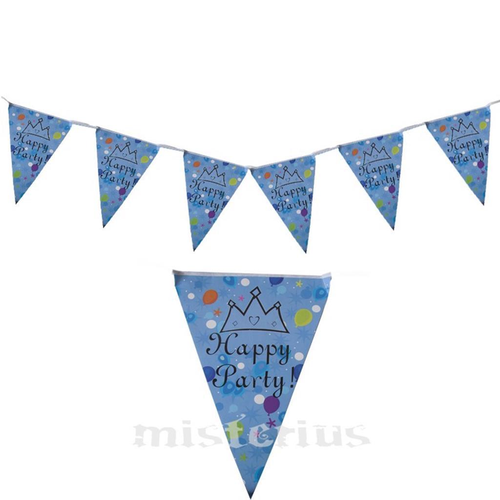 Bandeirola Happy Party Azul