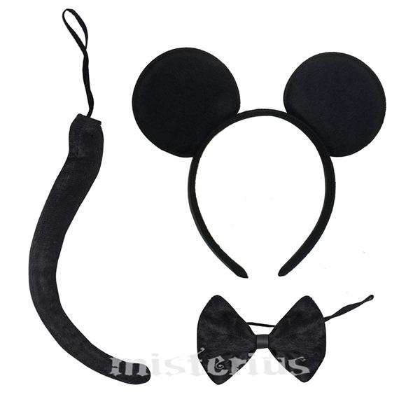Bandolete Rato Mickey com Laço e Cauda