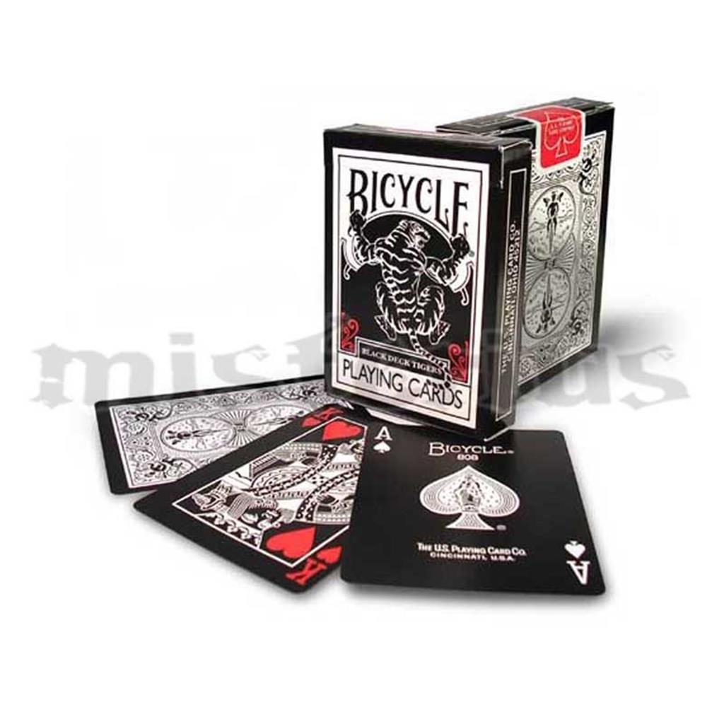 Baralho Bicycle Black Tiger Red Pips