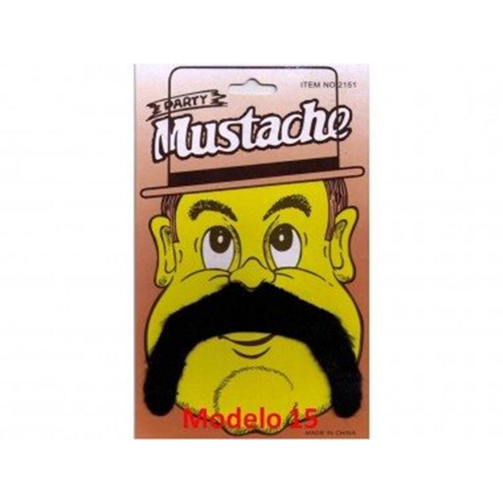 Bigodes Postiços Mod.15 Party-Mustaches False Party  ;