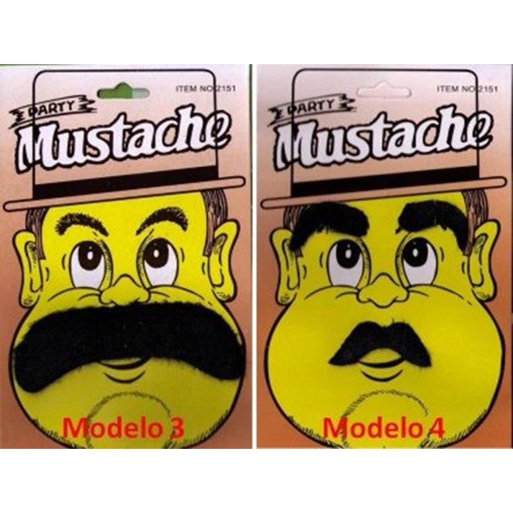 Bigode Postiço Mod.3 - Mustaches False Party