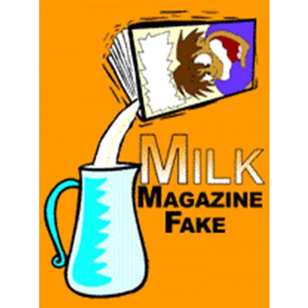 Bolsas para leite ou água no jornal- Milk Magazine Fake