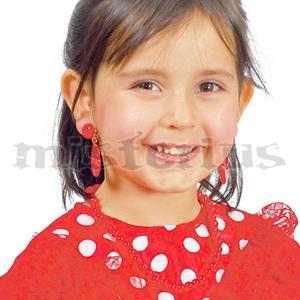 Brincos Sevilhana Vermelhos, criança