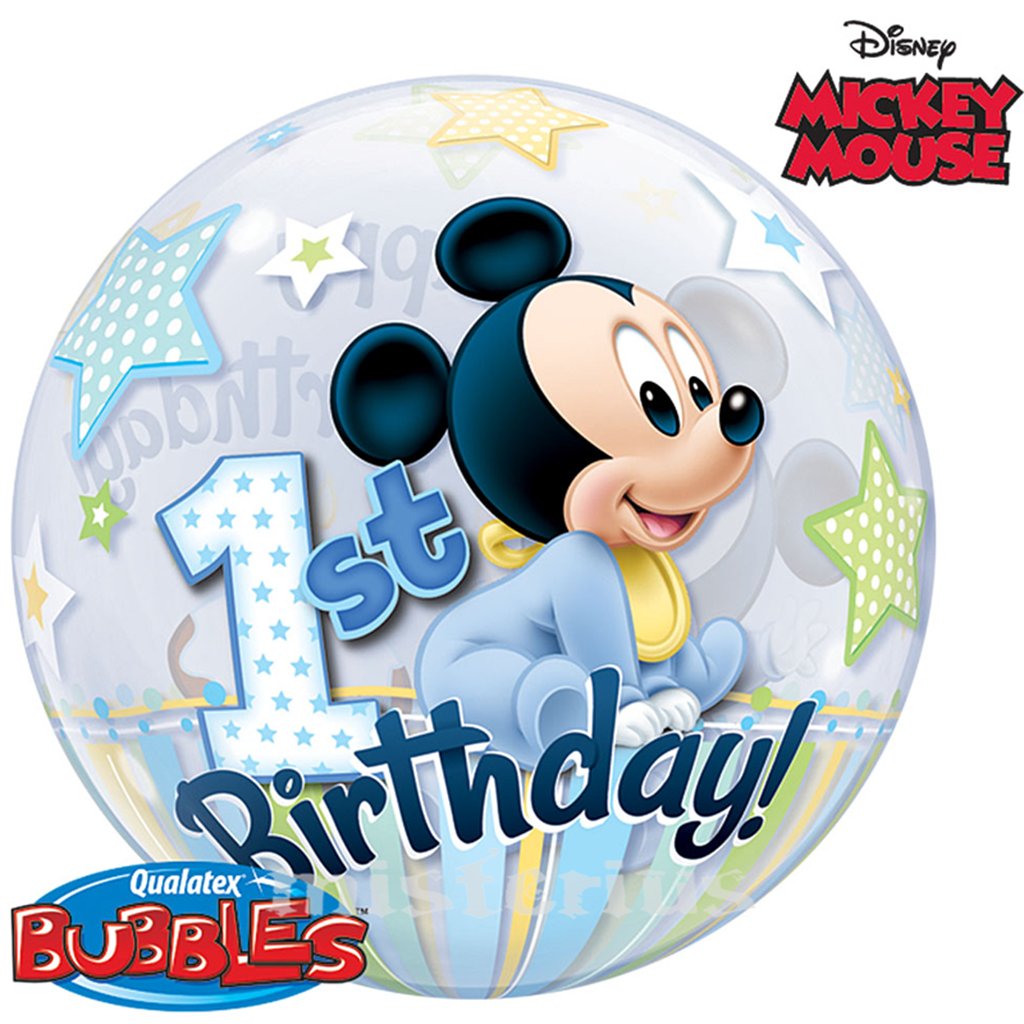 Bubble 1 Ano Mickey Mouse