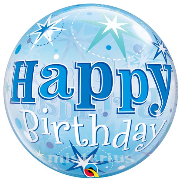 Bubble Azul H. Birthday Sparkle