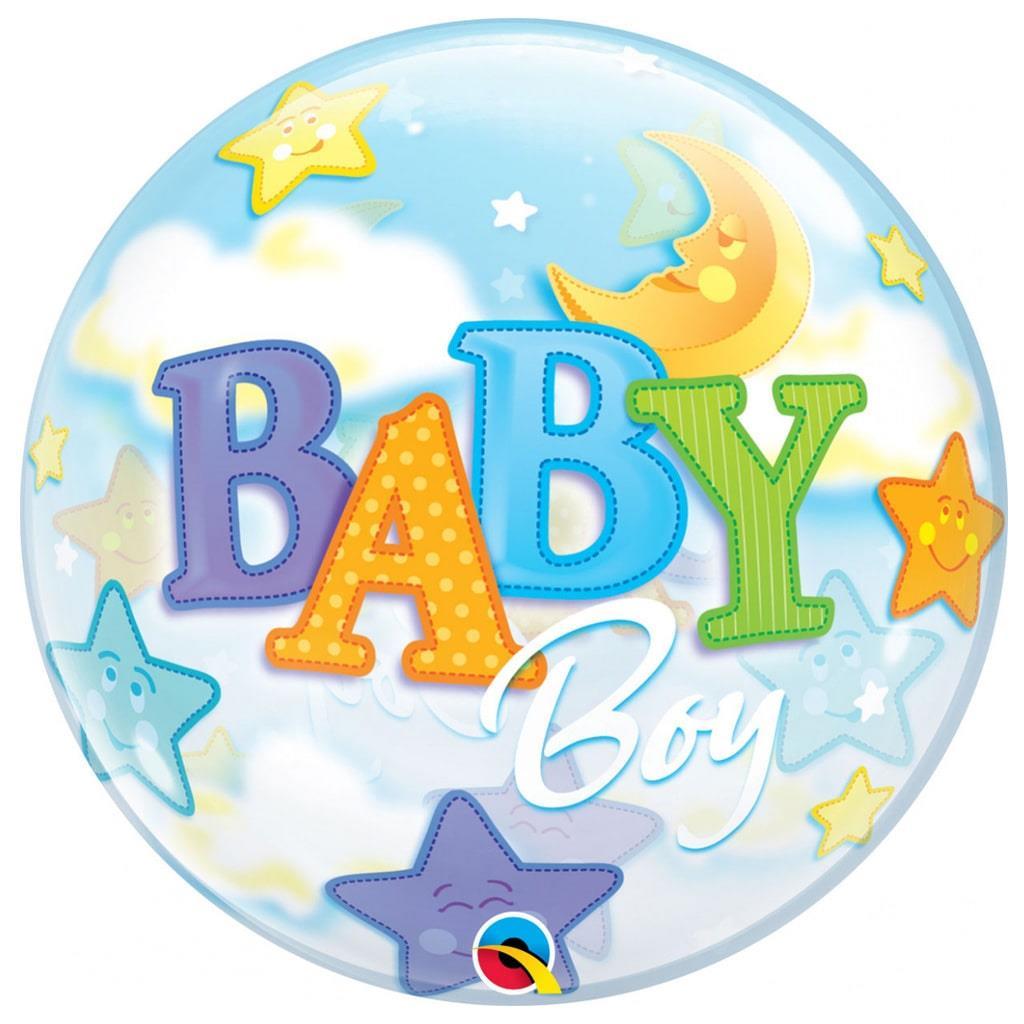 Bubble Baby Boy Lua e Estrelas