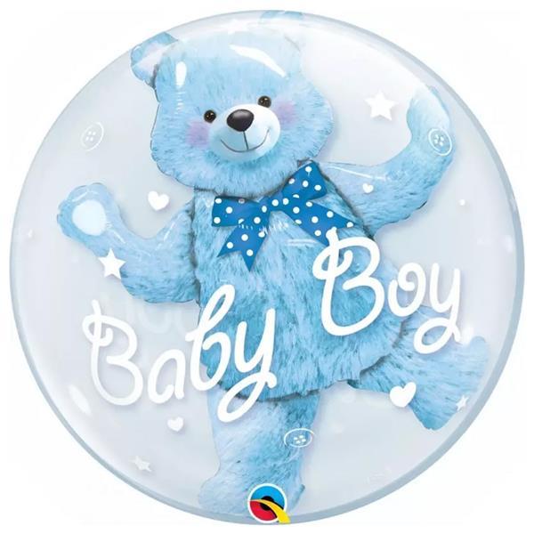 Bubble Baby Boy Urso Azul