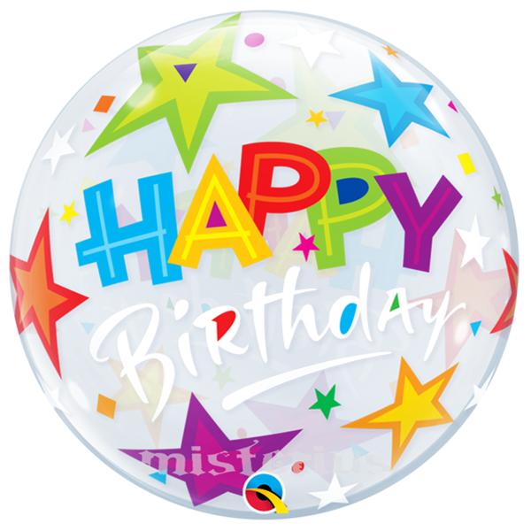 Bubble Estrelas Happy Birthday