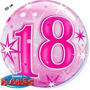 Bubble Estrelas Rosa 18 Anos