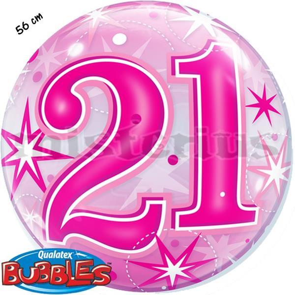 Bubble Estrelas Rosa 21 Anos