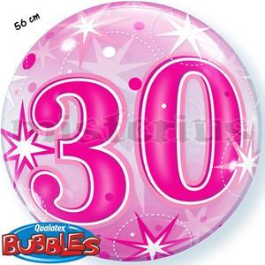 Bubble Estrelas Rosa 30 Anos