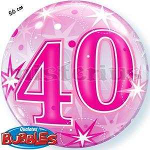 Bubble Estrelas Rosa 40 Anos