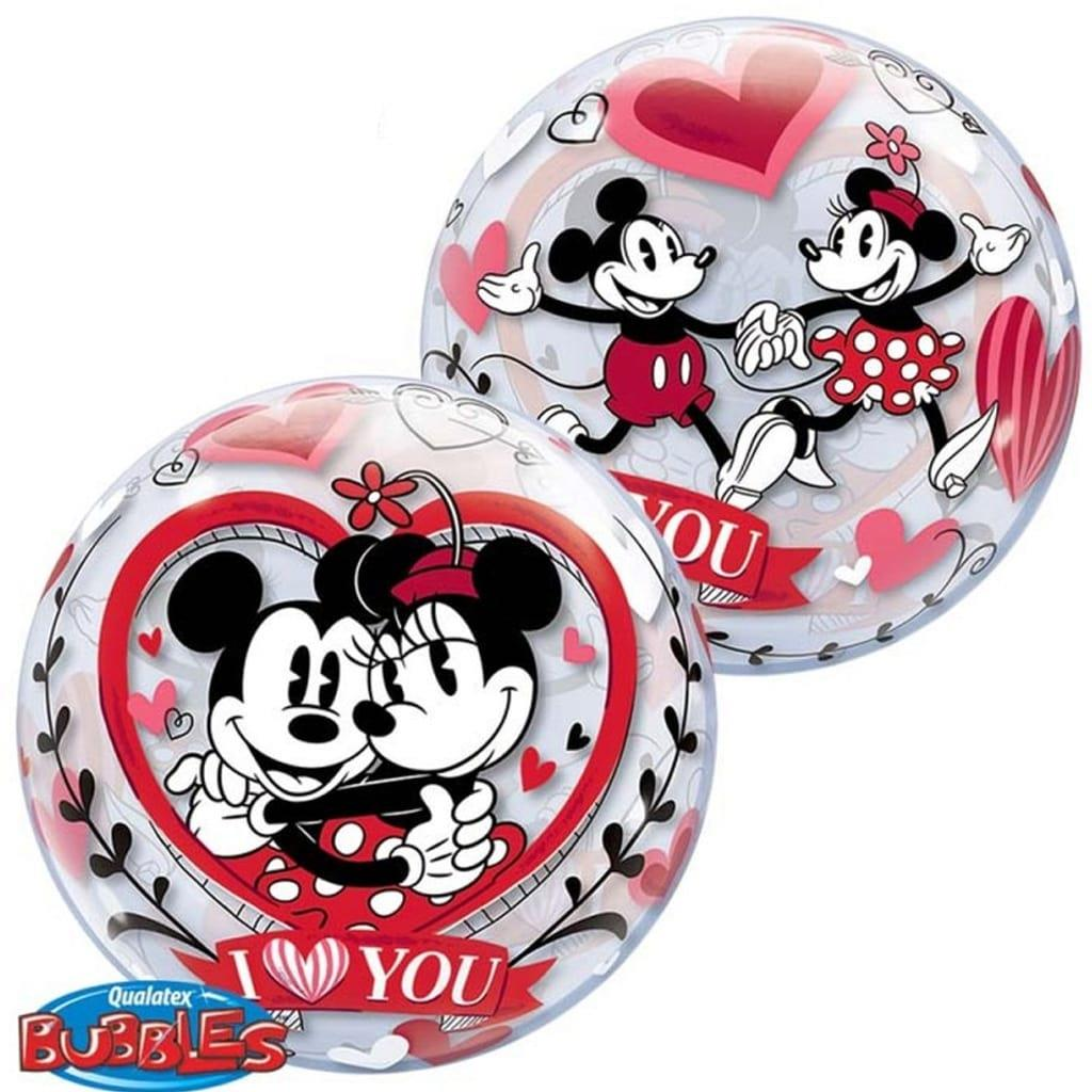 Bubble Mickey Minnie I love You