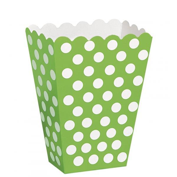Caixas Verdes Bolinhas, 8 Unid.