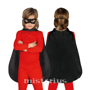 Capa Super-Herói Preta, Criança