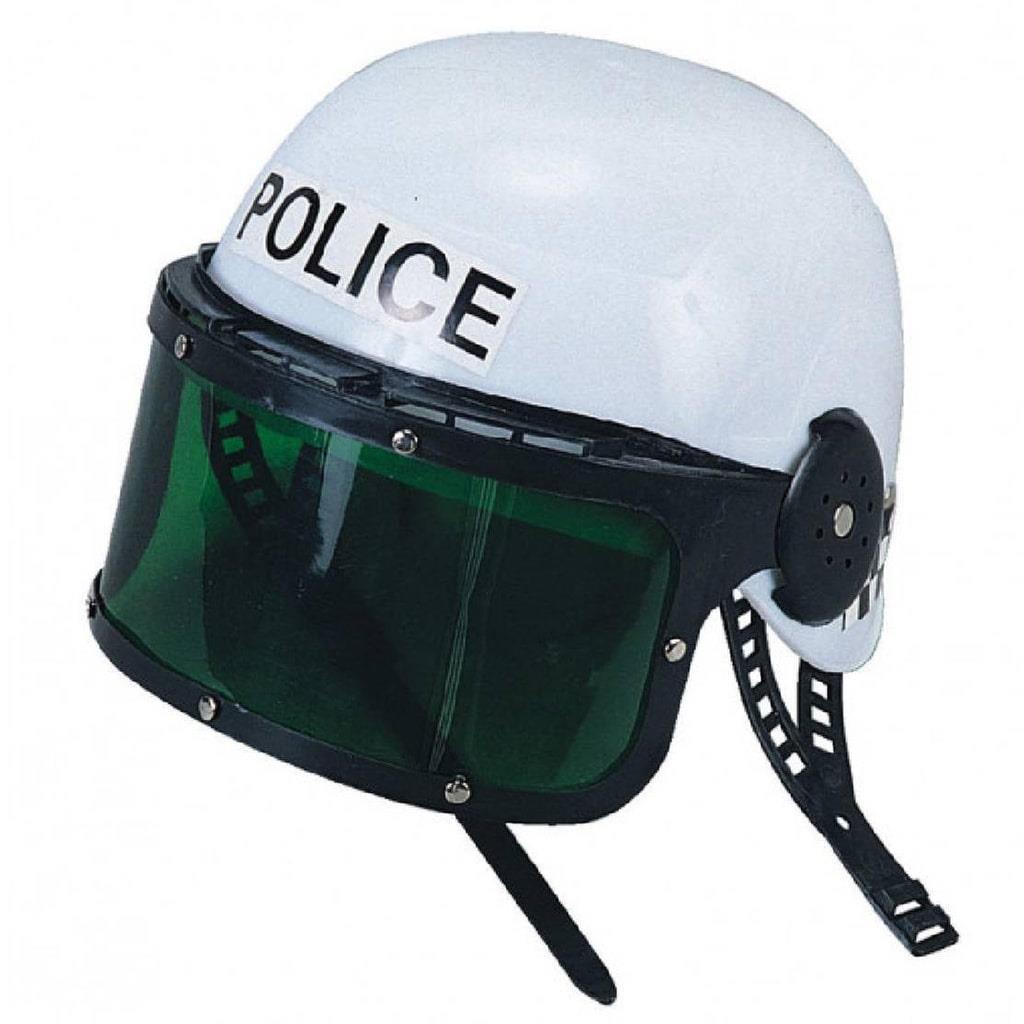 Capacete Polícia de Choque em Plástico
