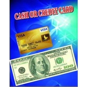 Cartão de crédito - Dinheiro ou Cartão