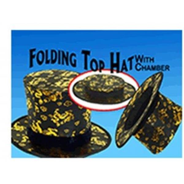 Cartolas Clak Dragão Dourado com fundo falso- Folding Top Ha