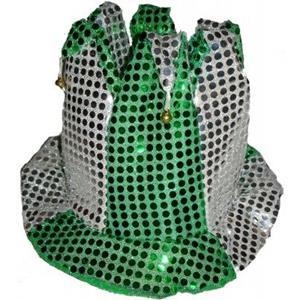 Chapéu Alto Bobo Arlequim Verde