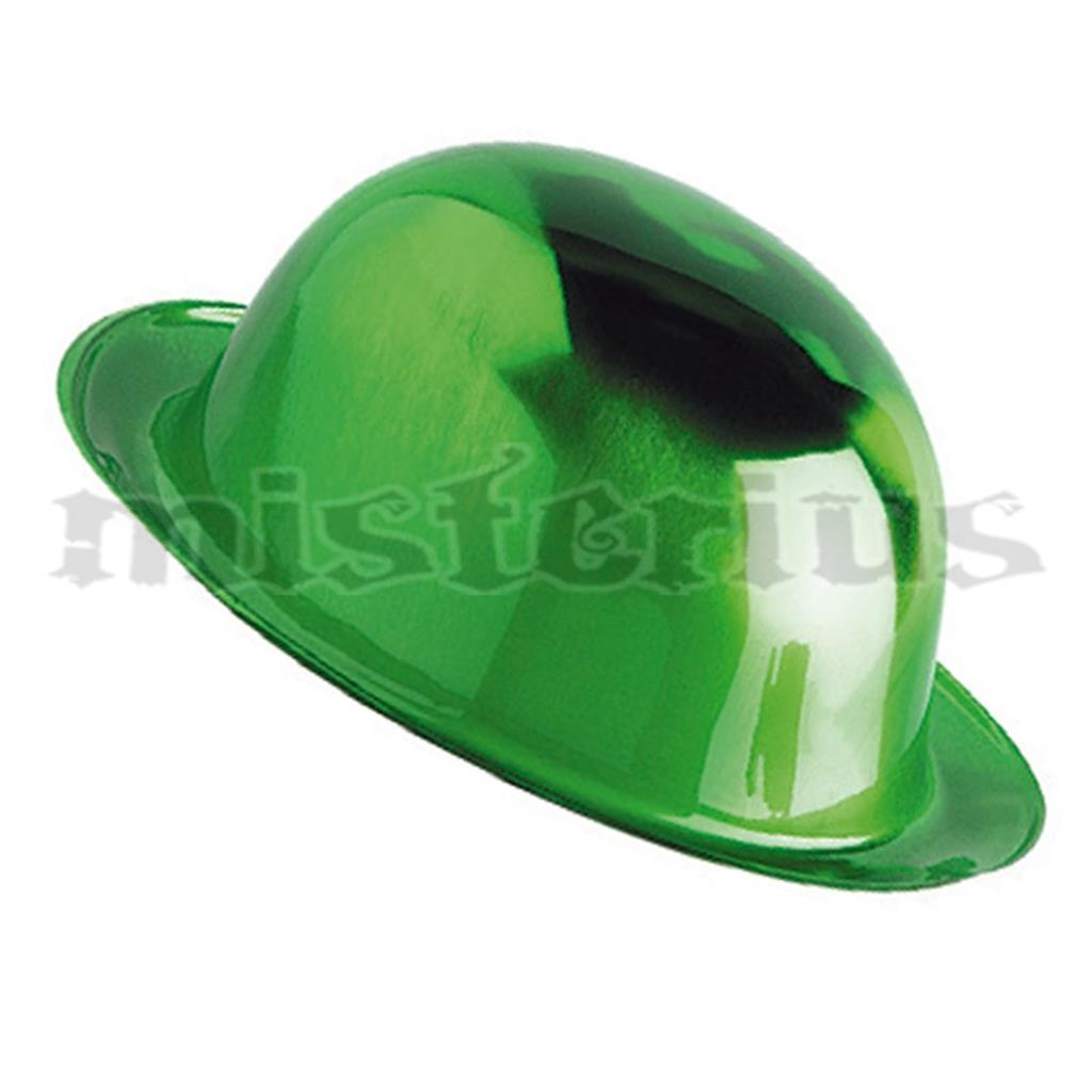 Chapéu Coco Verde Metalizado