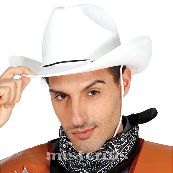 Chapeu Cowboy Branco Feltro